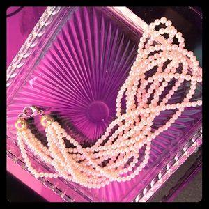 Cute Multi-Strand Faux Pearl Necklace